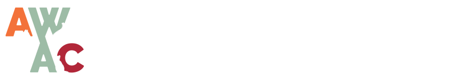 Animal Welfare Association Of Colorado Logo In White